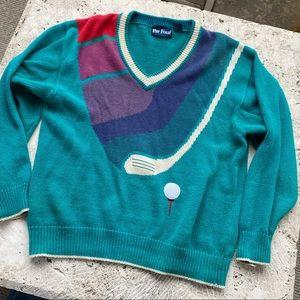 Colorful Par Four 90's Golf Sweater